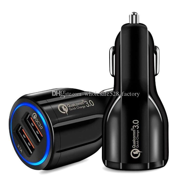 차량용 충전기 듀얼 USB의 QC3.0 빠른 충전기 어댑터 스마트 충전기 12V 3.1A를 들어 안드로이드 삼성 스마트 폰 태블릿