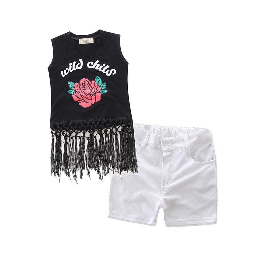 Pantaloni Neonata appena nata 2PCS autunno Set maniche lunghe abito floreale Outfits vestiti 2-3y