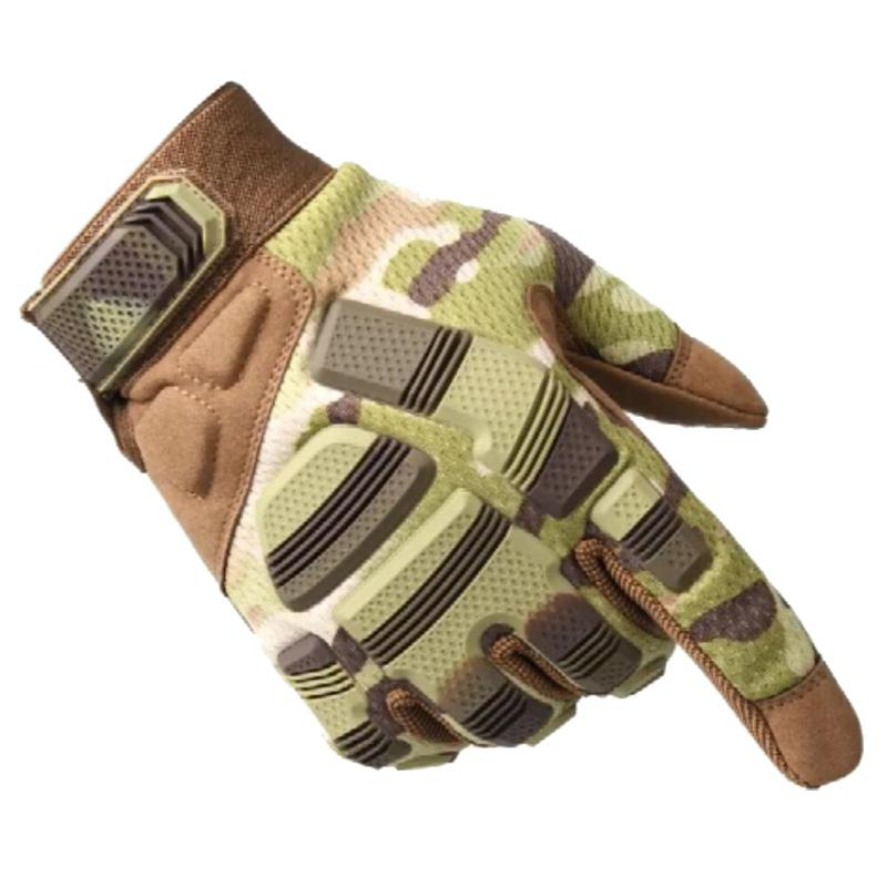 Outdoor Sport Tactical Gloves Full Finger For Hiking Cycling Motorcycle Army Men's Gloves Armor Protection Shell