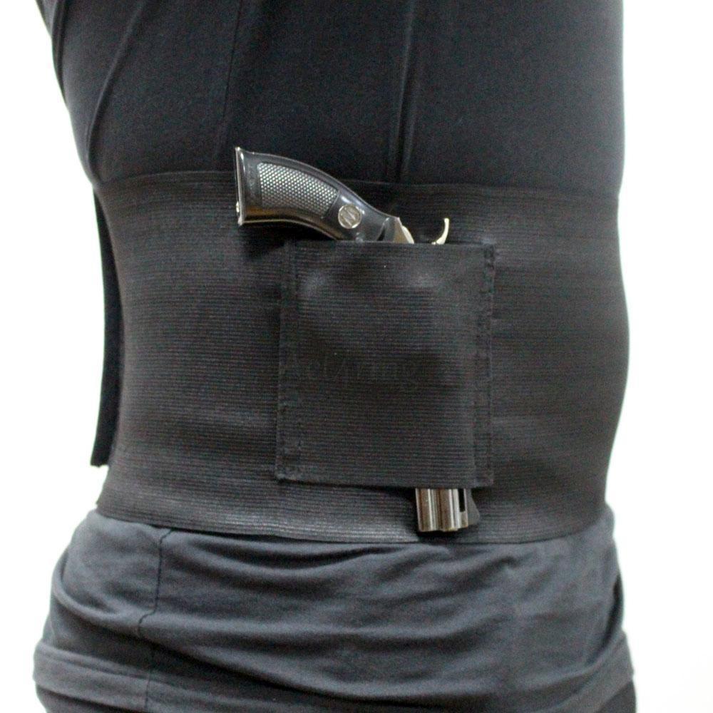 Taktik İnce Wrap Gizli Carry Göbek Bandı Tabanca Kılıfı Bant Gun Kılıf 30-37 inç