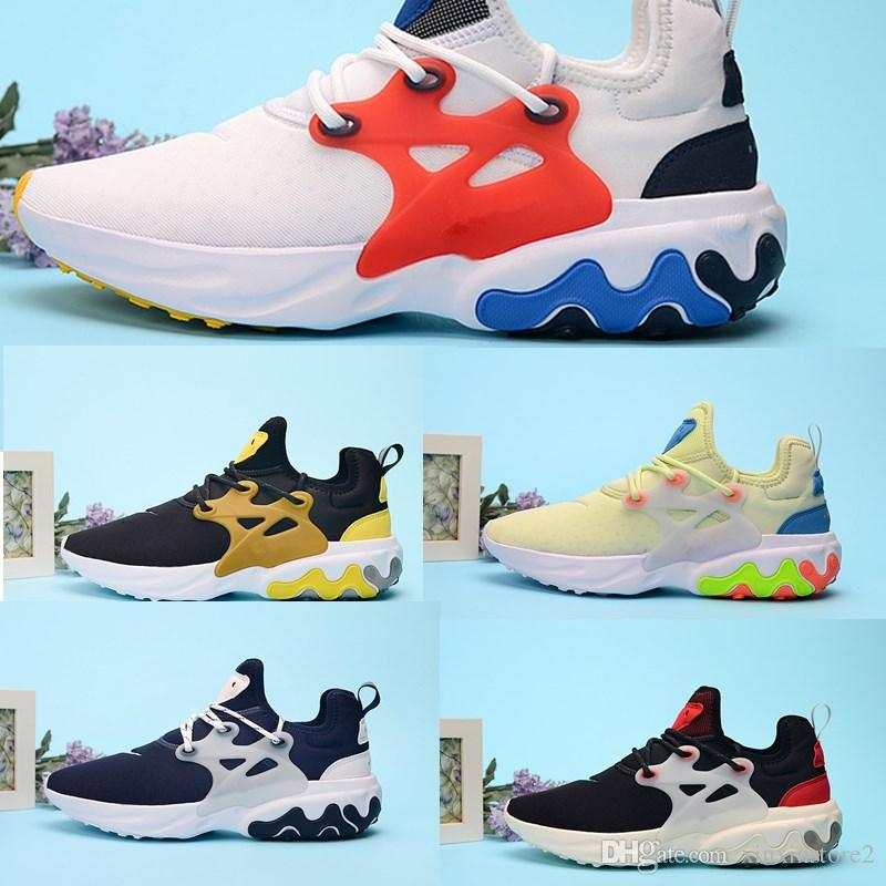 Compre Nike Presto React 2019 Presto Mid Epic React Hombres Mujeres Zapatos  Para Correr Malla Cómoda Zapatillas De Deporte Respirables Negro Blanco ...