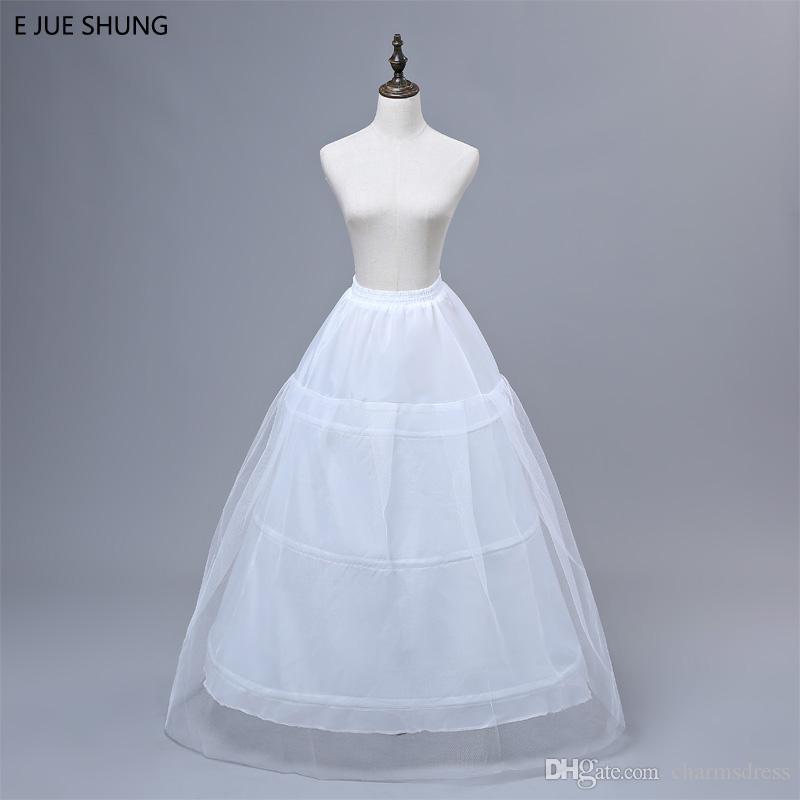 Gratis frakt Bästsäljande Billiga Bollkakor Tulle Bridal Petticoats Bröllop Underskirt Crinolines Brudtillbehör