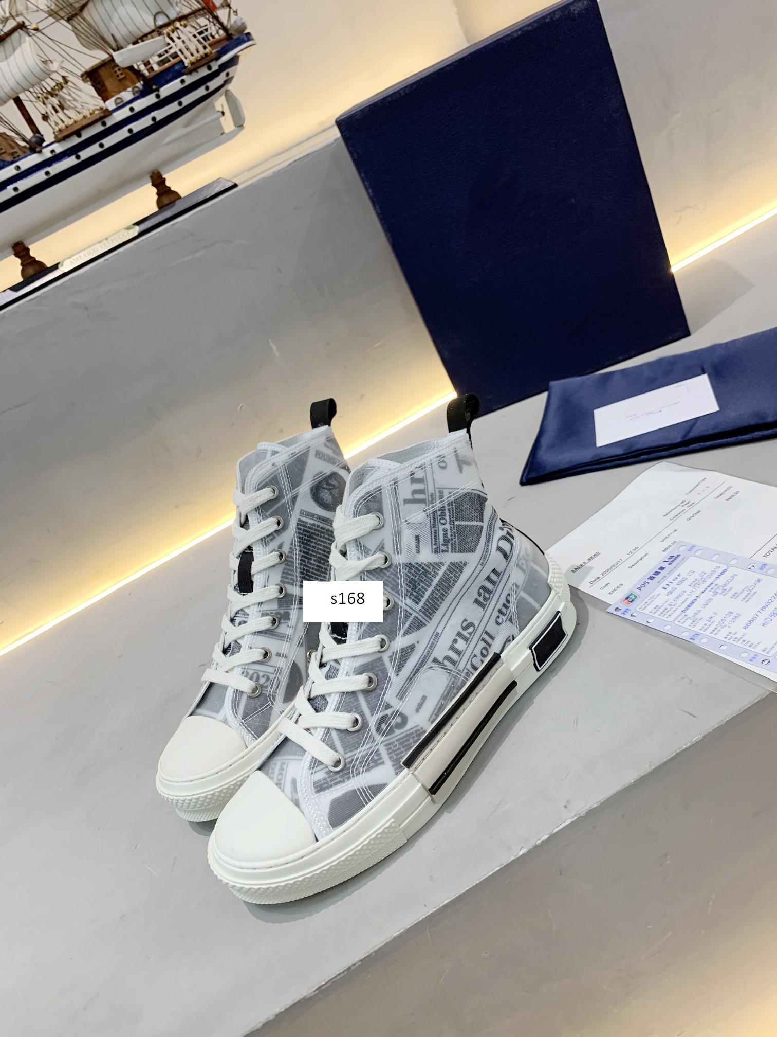 MEILLEUR QUALITYFlowers technique toile B23 B24 haut Baskets montantes dans Oblique Hommes B23 Designer Chaussures pour hommes et femmes taille Sneakers Mode 43