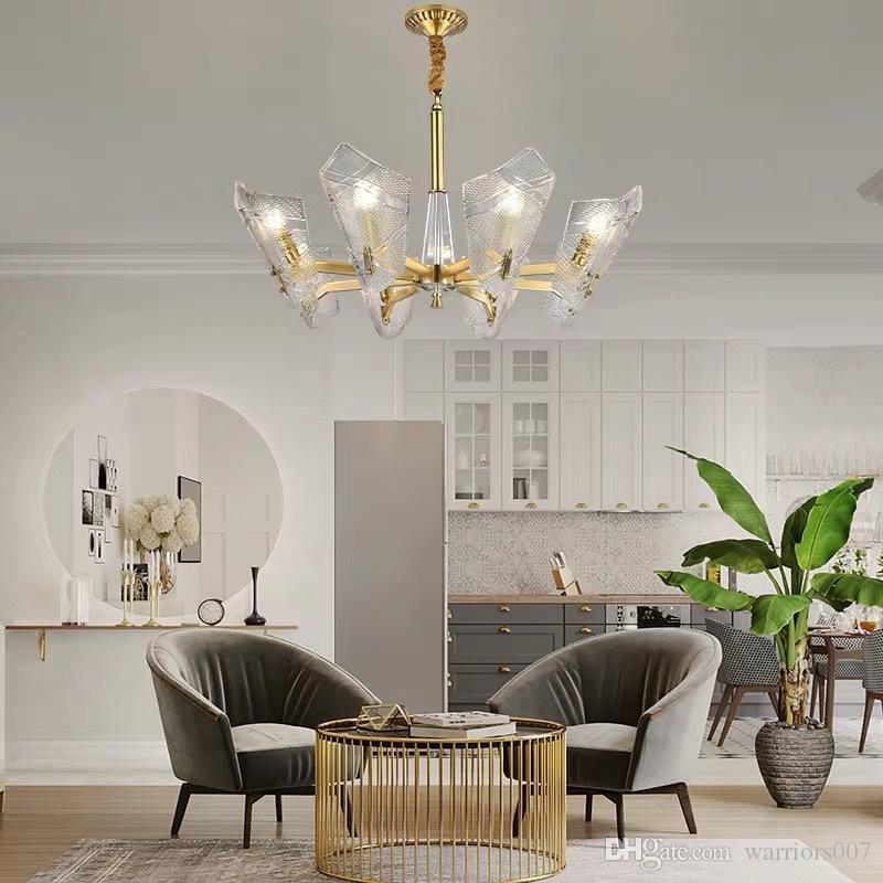 قلادة ريترو ما بعد الحداثة شل الثريا للنوم غرفة المعيشة الكلاسيكية تعليق غرفة طعام مصباح الأنوار الذهب