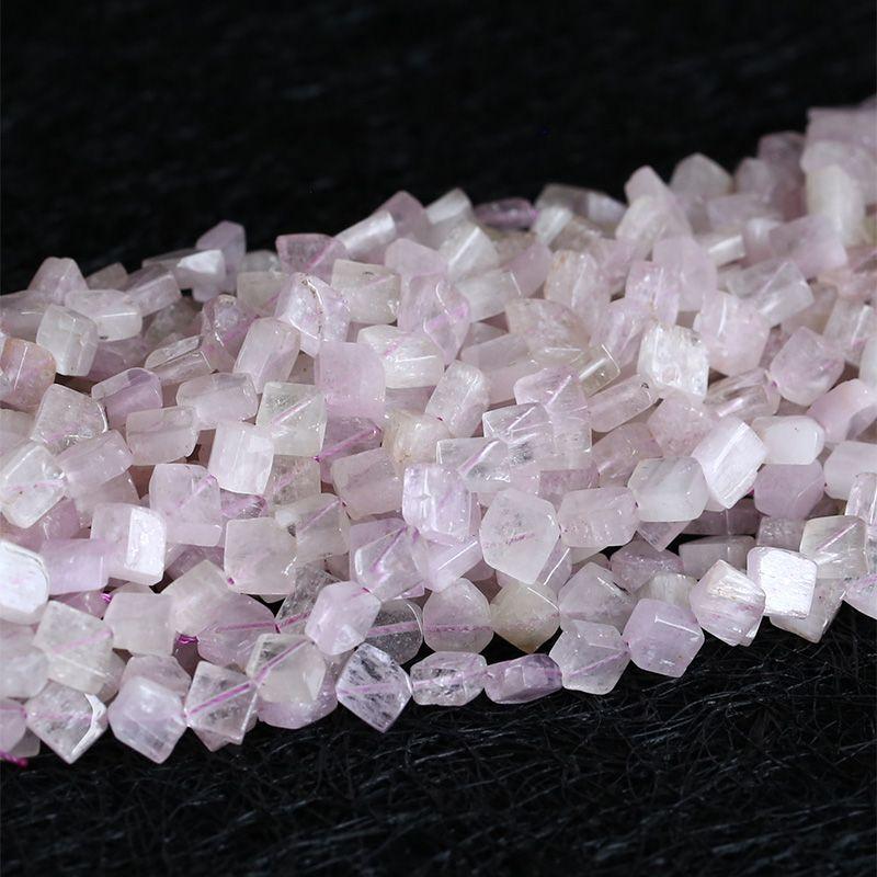 Wholesale Natural Purple Pink Kunzite Nugget Loose Beads Spodumene Gemstones Beads 5x7mm  03793