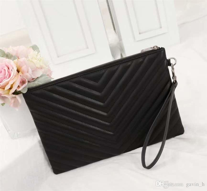 Alta calidad 29 cm diseñador de bolsos de lujo Moda urbana mujer bolsa de ocio High Real marca de cuero mujer Cluth bolsa