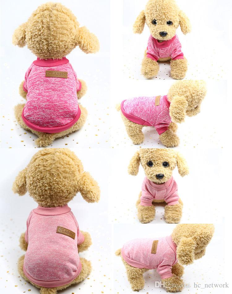 New Pet Dog Knitwear Sweater Fleece Coat Soft Thickening Warm Pup Dogs Shirt Winter Pet Dog Cat Clothes Soft Puppy Customes Clothing
