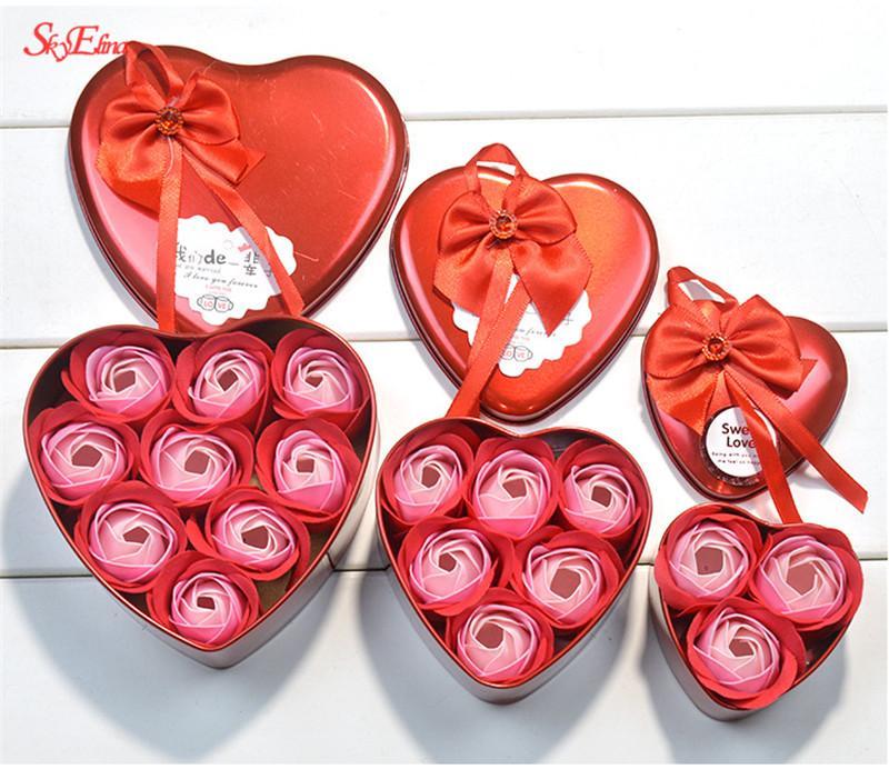 Gökyüzü Elina 3 Adet Kalp kokulu banyo sabunu köpük fo fo güller sabun çiçek hediye Düğün Dekorasyon Hediye En 5Z