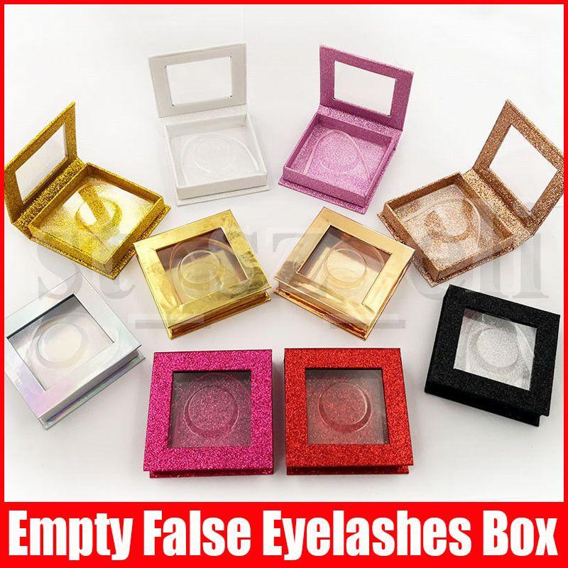 3D Mink Eyelash square Package Boxes False Eyelashes Packaging Empty Eyelash box Case Lashes Box Makeup Tool