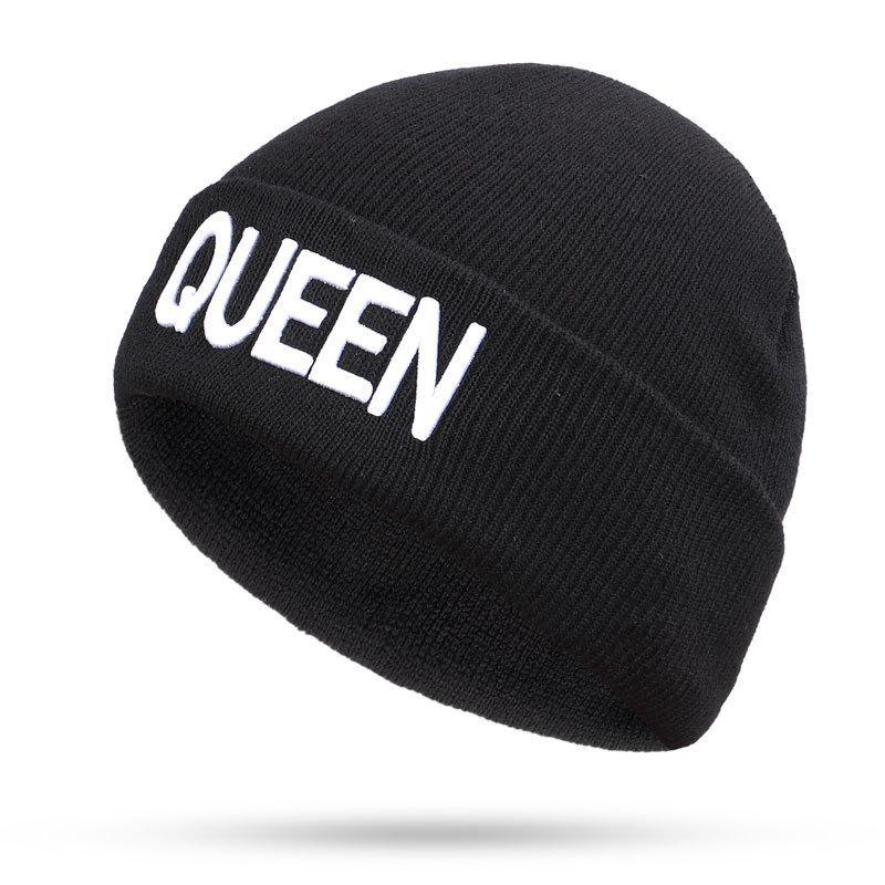 Re Regina Cappelli invernali per la donna Nuovi Berretti a maglia solido cappello sveglio ragazze femminile di autunno Beanie Caps Warmer Bonnet signore casuali