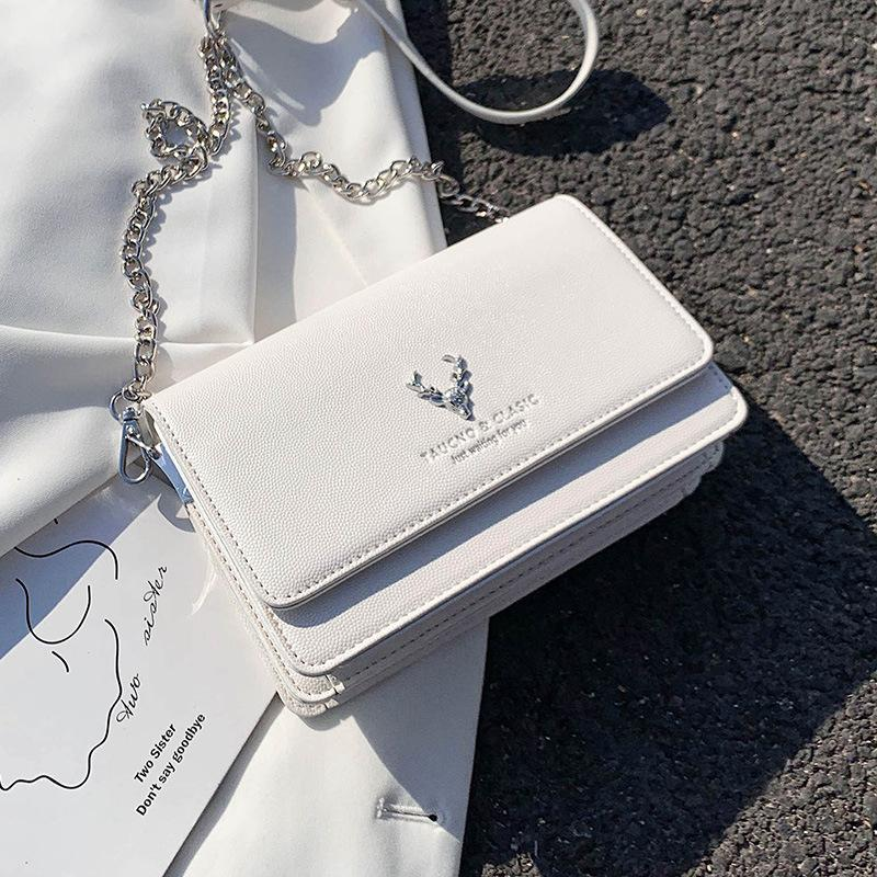 Summer 2020 new trend line small bag senior sense simple girl chain small square bag messenger women's wild handbag