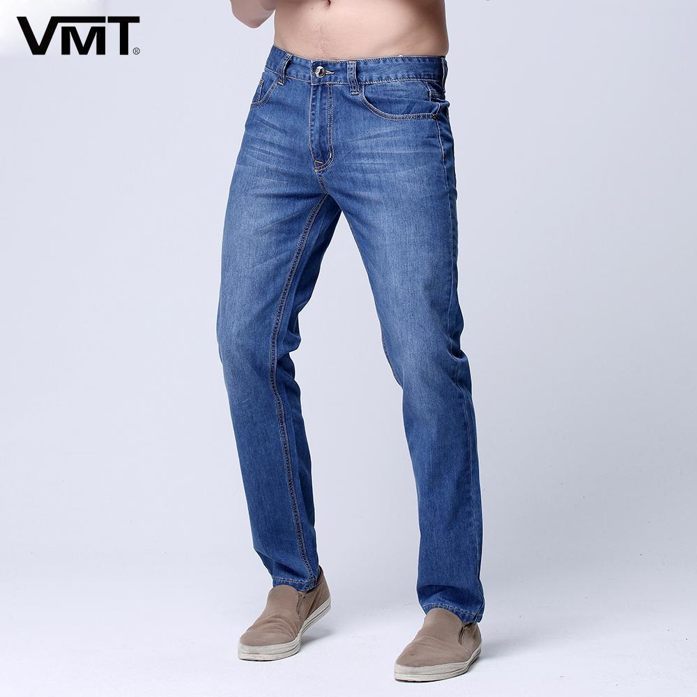Promoção limitada dos homens 2019 jeans finos de verão venda quente slim perna reta 40 42 tamanho S6CJ015