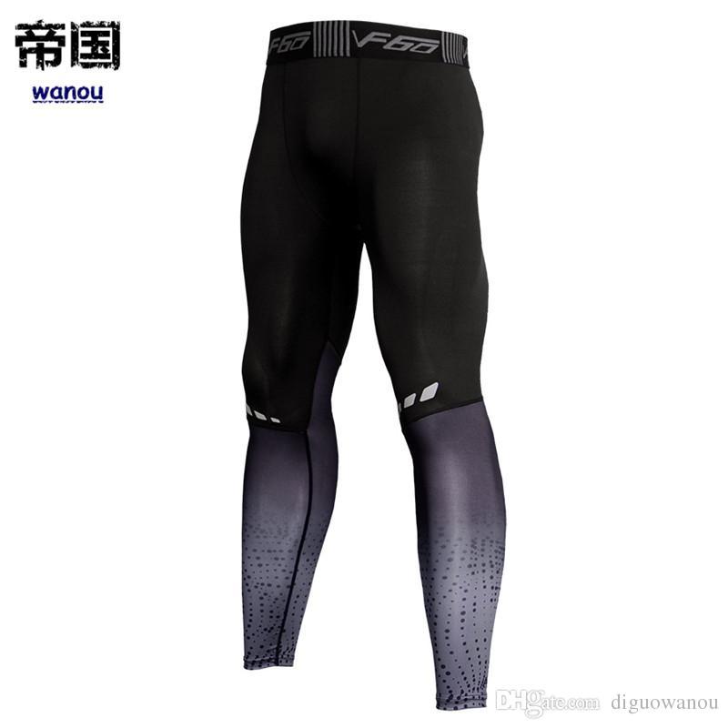 Pantalones delgados Hombres Moda NUEVO Gimnasio Fitness Ropa deportiva Ejecución Ejercicio Culturismo Alto elástico Seca rápida Transpirable Pantalones largos