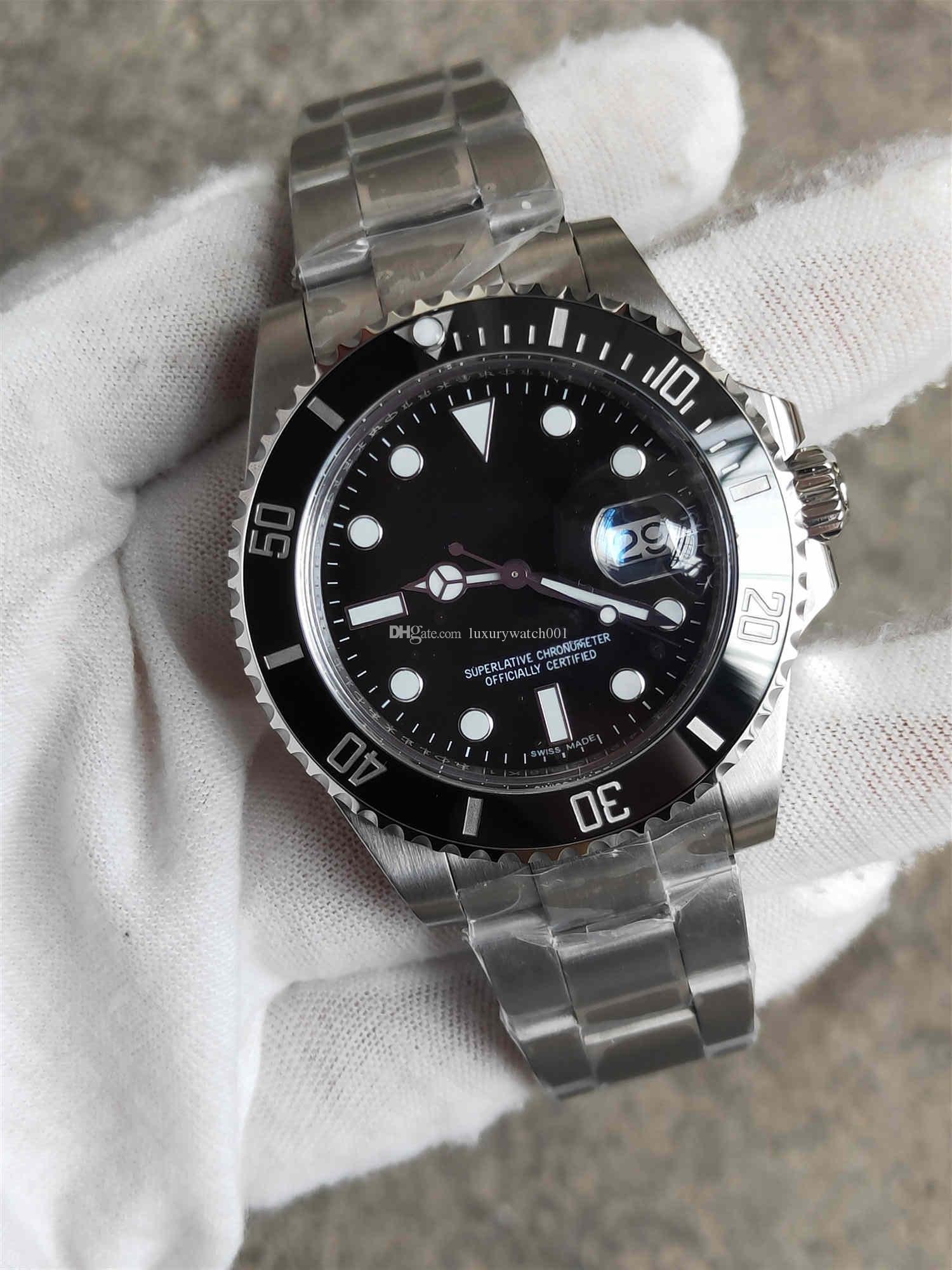 Высокое качество Luxury Мужские часы автоматические механические часы 40мм V3 Нержавеющая сталь Wristwatches порты Self-ветровые Часы