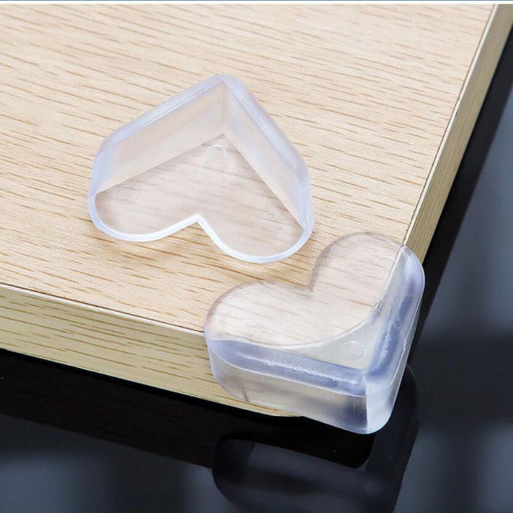 4pcs 5*4*2cm Love Heart Desigh Baby Safety Silicone Protector Table Corner Edge Guards Cover Children Anti Collision 2019 New