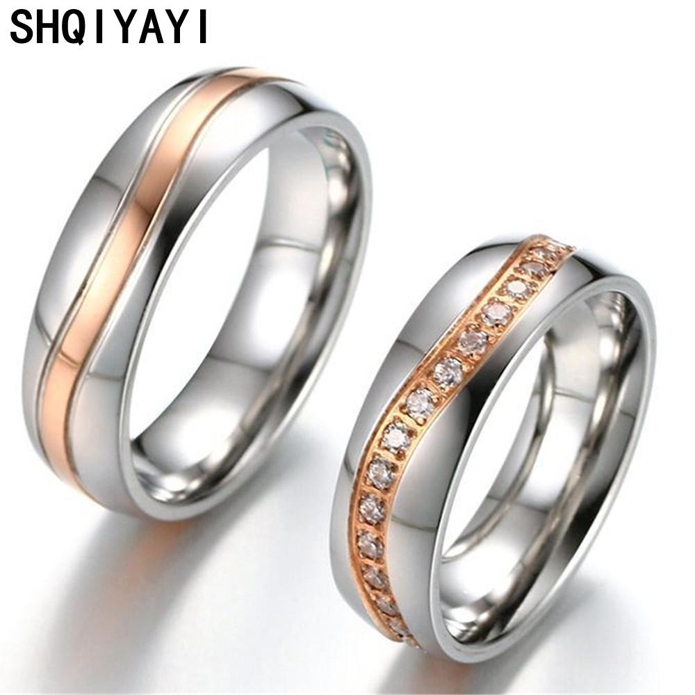 2020 Shqiyayi Romantic Wedding Ring For Lover Stainless Steel