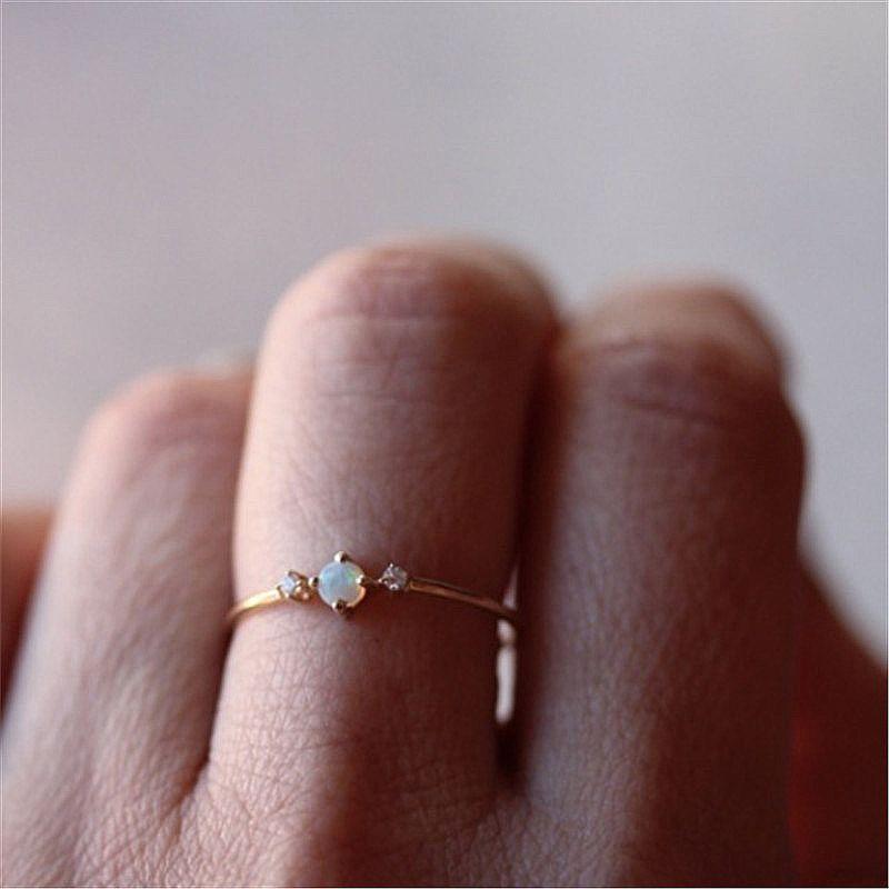 Anello bello Piccolo Anello Occidentale Opal Rose Gold Engagement vendita gioielli mini-cristallo della donna