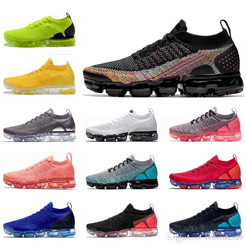 Yeni FK 2.0 Kadın Erkek Koşu Ayakkabıları Knit Çok Renkli Zebra Takımı Kırmızı Orbit Volt Racer Mavi Pembe Havalar TN Artı Eğitmenler Sneakers