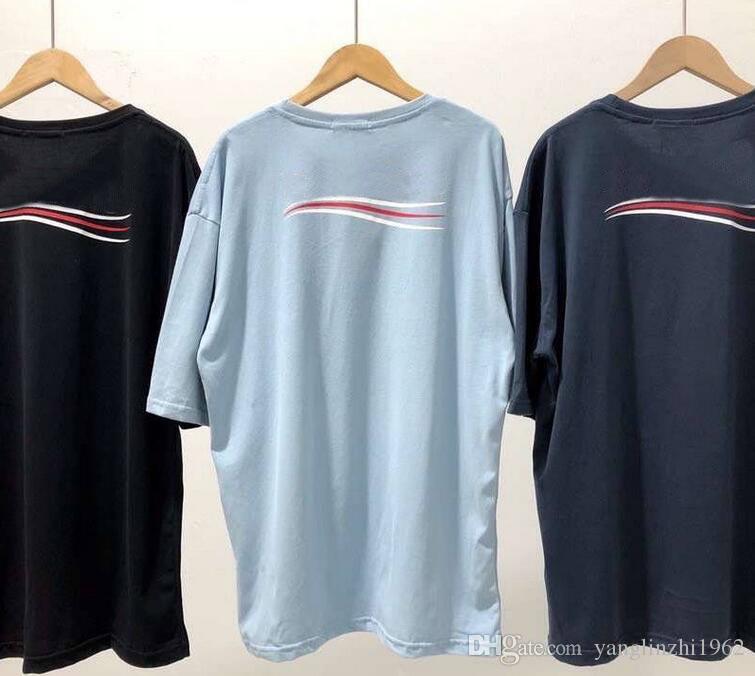 Homens e mulheres de manga curta Moda 2020 T-shirt Homens do logotipo da forma de onda do clássico Polo T-shirt impressão do logotipo de alta qualidade T-shirt de Luxo