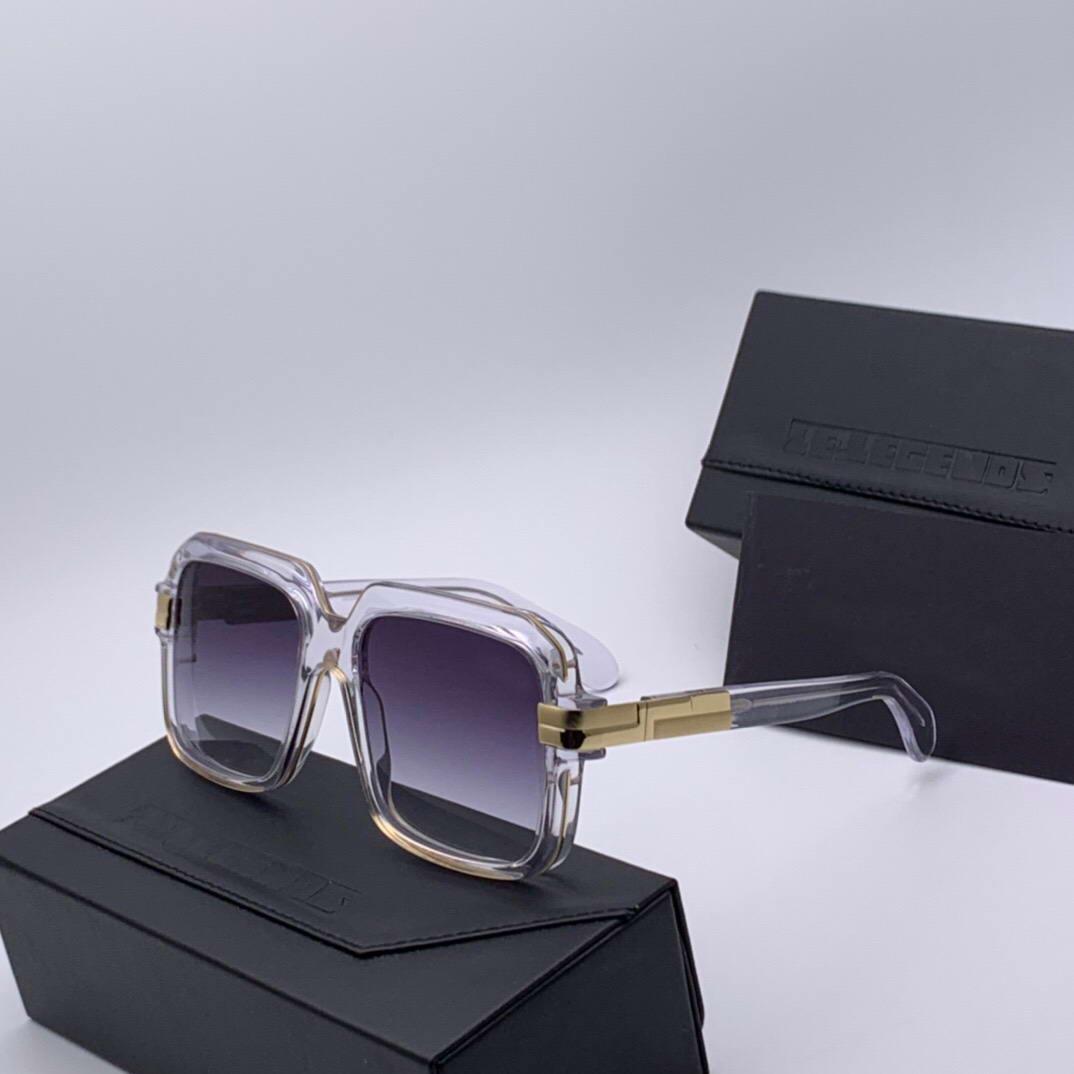Легенды 667 Квадратных Солнцезащитных очки кристалла серого градиента марочных солнцезащитные очки Защита от ультрафиолетовых лучей Occhiali да единоличных Firmati очков Нового с коробкой