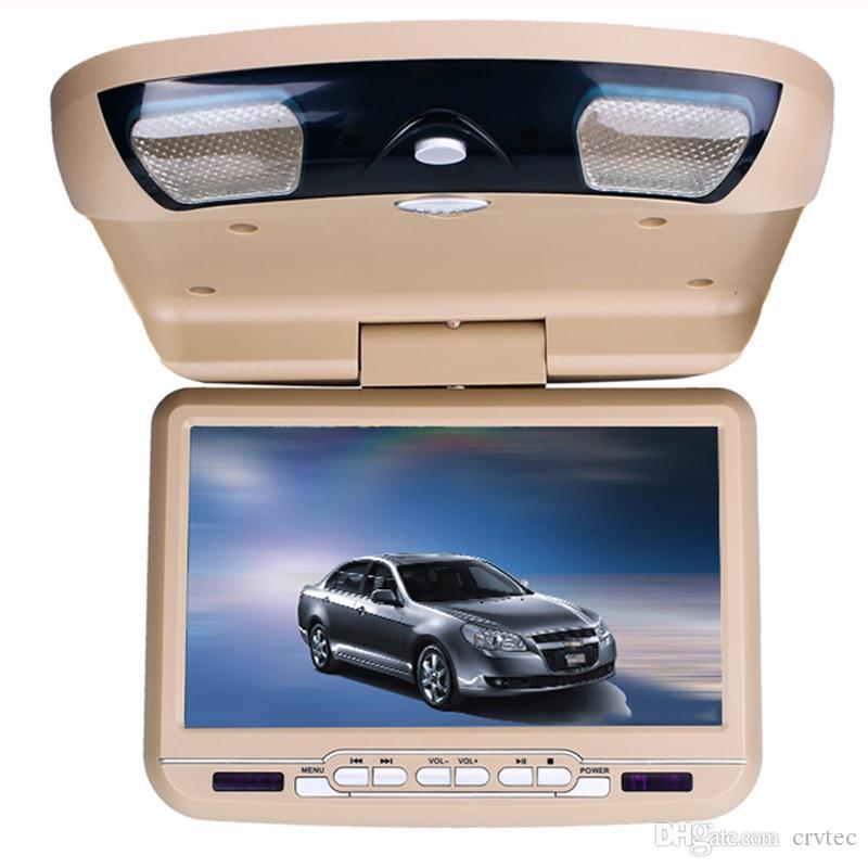 1Pc 9 inch Flip Down Dvd 800x480 Swivel screen monitor roof mount car dvd player USB SD FM IR Transmitter Game beige grey black