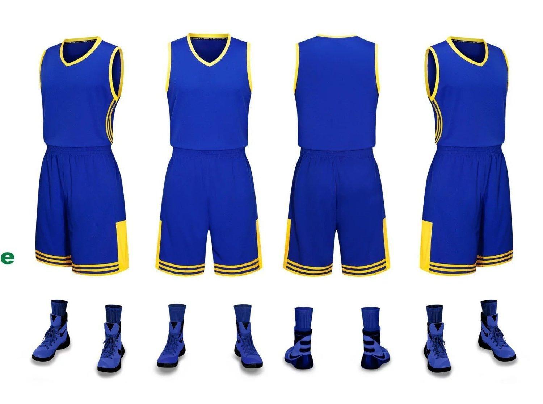 2019 novas camisas de basquete em branco logotipo impresso tamanho Mens S-XXL preço barato transporte rápido boa qualidade NOVO Blue BY0012r Amarelo