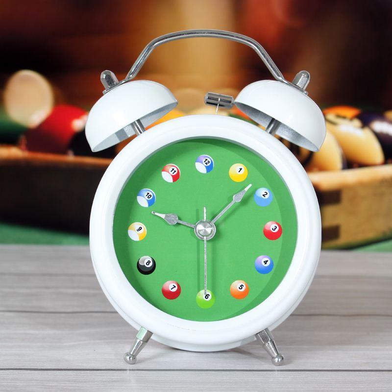 Moda snooker piccola sveglia orologio luminoso muto lounged Comodino