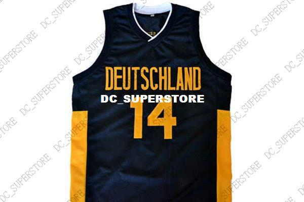 lowest price af373 040bd 2019 Wholesale Dirk Nowitzki #14 Deutschland Germany Basketball Jersey  Black Stitched Custom Any Number Name MEN WOMEN YOUTH BASKETBALL JERSEYS  From ...