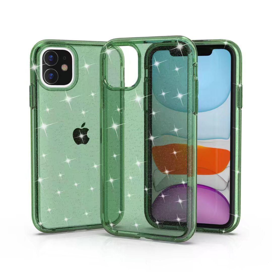 Подхожу для iphone классического тренда все включен блестки прозрачного анти-капельного жесткие оболочки мобильного телефона случае
