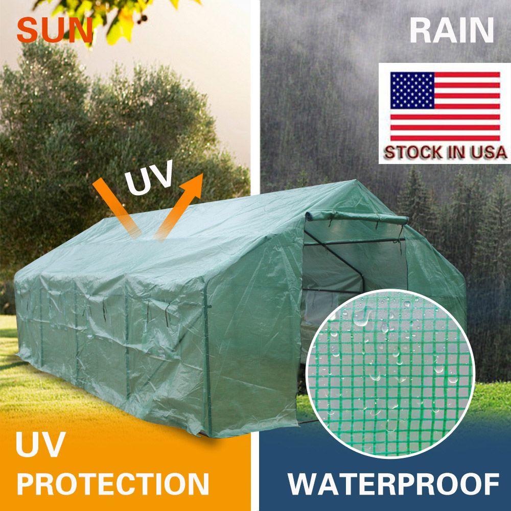 خيمة في الهواء الطلق لحديقة 20x10x7inch الاحتباس الحراري الثقيلة الحدائق النباتية الاحتباس الحراري خيمة صامد للريح سوق الأسهم اللون الأخضر غير نافذ للمطر الولايات المتحدة