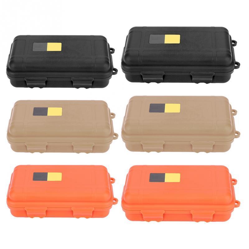 Sopravvivenza esterna Box EDC impermeabile di plastica portatile di caso Apparecchiatura di sicurezza antiurto sigillata Tool Box Dry Box contenitore di stoccaggio