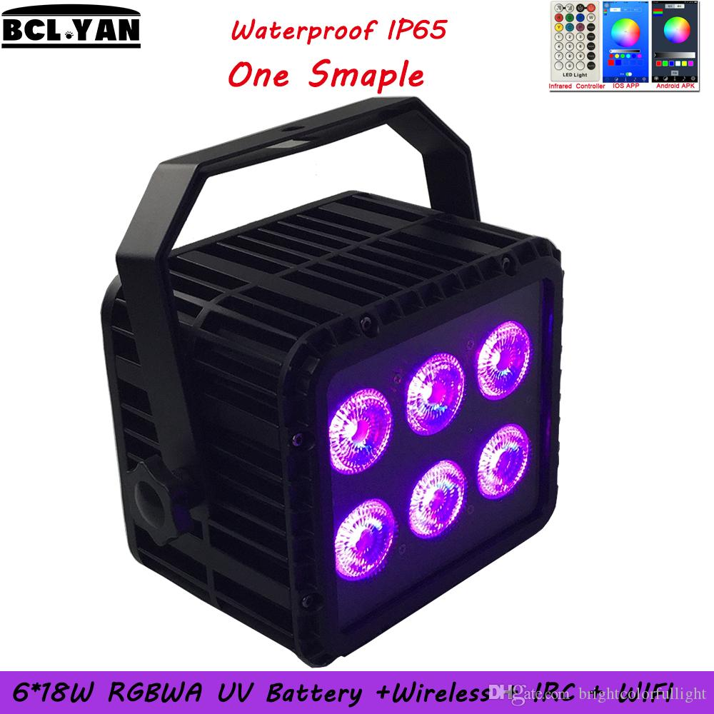 Free Shipping DHL 2018 Newest Hot Waterproof Battery 6PCS 18W 6in1 LED Par Outdoor Light Wireless DMX Par Light with IR remote