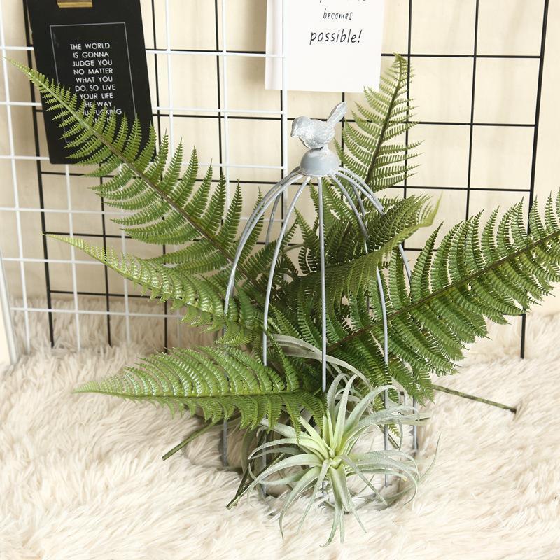 47 см искусственные пластиковые растения Главная тропические украшения аксессуары трава Chrysalidocarpus Lutescens листья джунгли украшения партии