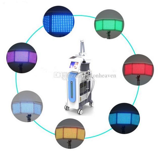 Çok fonksiyonlu 7 IN 1 PDT Led Foton Terapi Hidro Dermabrazyon Elmas mikrodermabrazyon makine Oksijen BIO Microcurrent Cilt Scrubber Spreyi