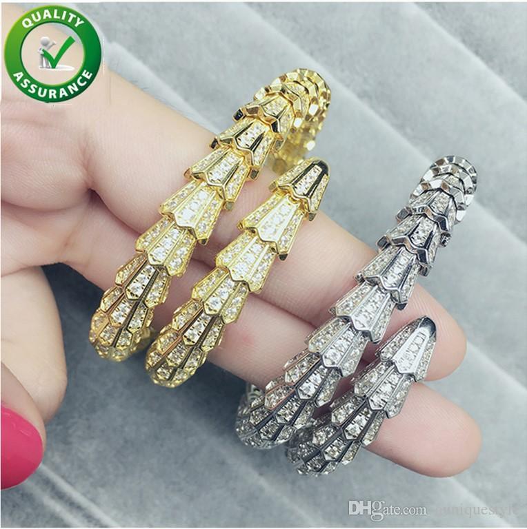 Bracciale Gioielli di design di lusso Donne Bracciali Bracciali a vite con gemelli Pulsera Diamond Tennis Bracciale con vite a forma di serpente