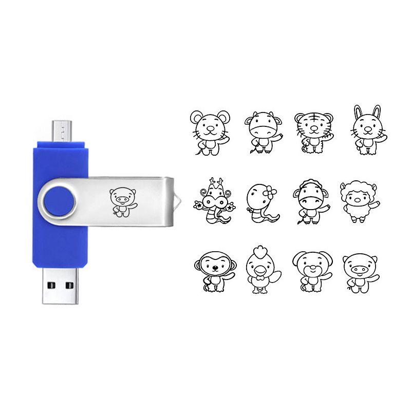 Volle Großhandelskapazität USB 2.0 kundenspezifischer OTG USB-Blitz-Antrieb 8G 16G 32G fertigte Ihr Logo USB besonders an