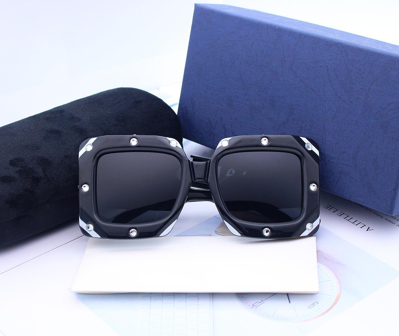 갈색 선글라스 렌즈 편광 높은 품질의 패션 새로운 편광 남성 여성 선글라스 반 무테 프레임 운전 안경