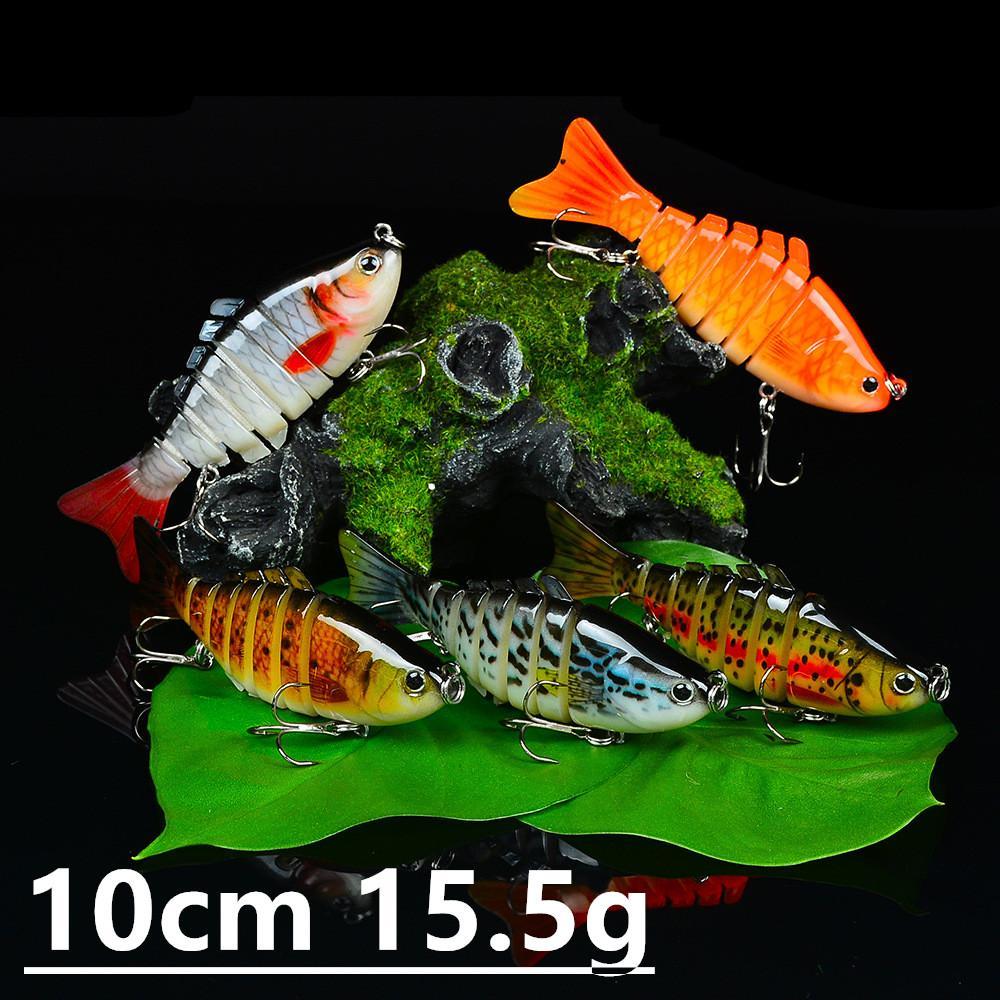 1 Adet 15 Renk 10cm 15.5g Çoklu bölüm Balıkçılık Kancalar Balık oltaları 6 # Kanca Plastik Sabit yemler Yemler Pesca olta takımları Aksesuarlar z-2
