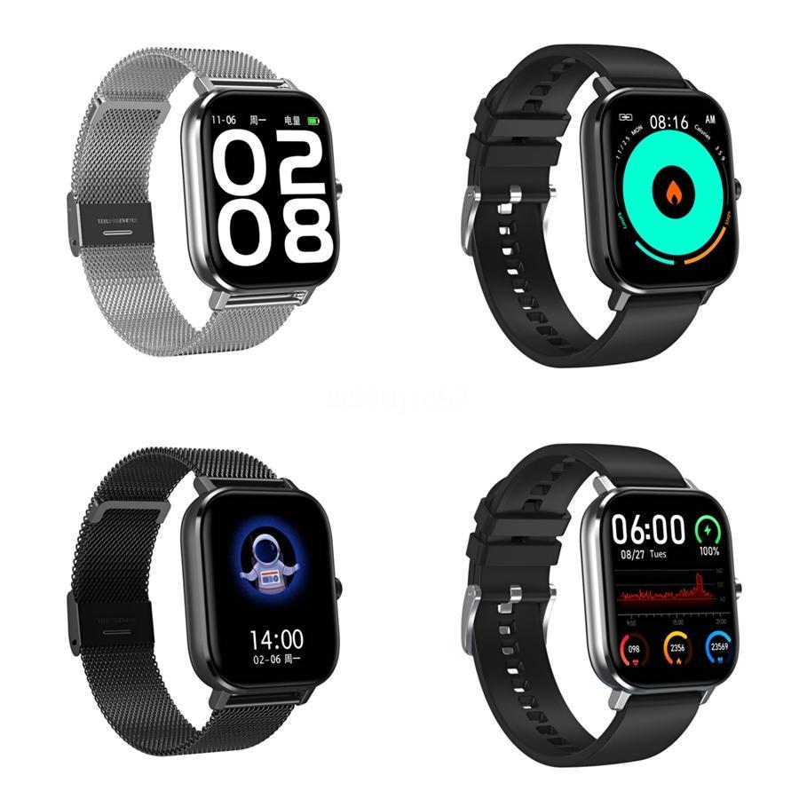 Pantalla DT-35 Inteligente Relojes L8 rastreador de ejercicios multi-deporte Modo de color IP68 a prueba de agua pulsera de sangre para Android Ios # QA94412