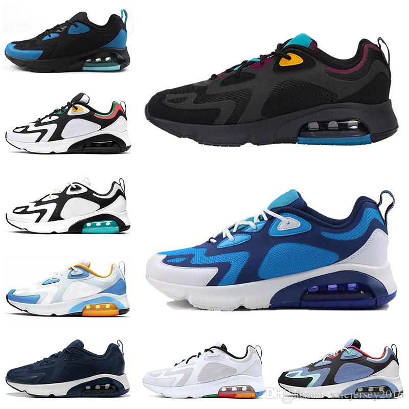 Nike Air Max 200 Chaussures Chaussures Casual Hommes Femmes Désert Sable Rouge Bordeaux 200s Chaussures Hommes Baskets Mode Sports Athlétiques Sneakers 36-45