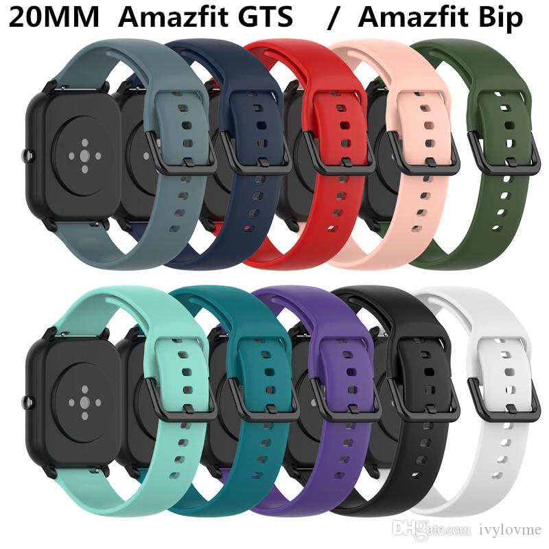 Sport-Silikon-Armband-Bügel für Xiaomi Huami Amazfit GTS / GTR 42mm / Bip Lite Samsung S2-Gang Sport Smart-Uhrenarmband-Armband-Band