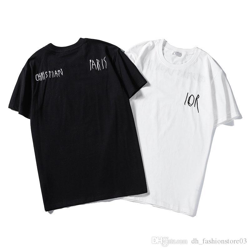dior gli uomini T-shirt da uomo logo Box dior t shirt maglia moda donna uomo dior men hip-hop girocollo casuale maglietta