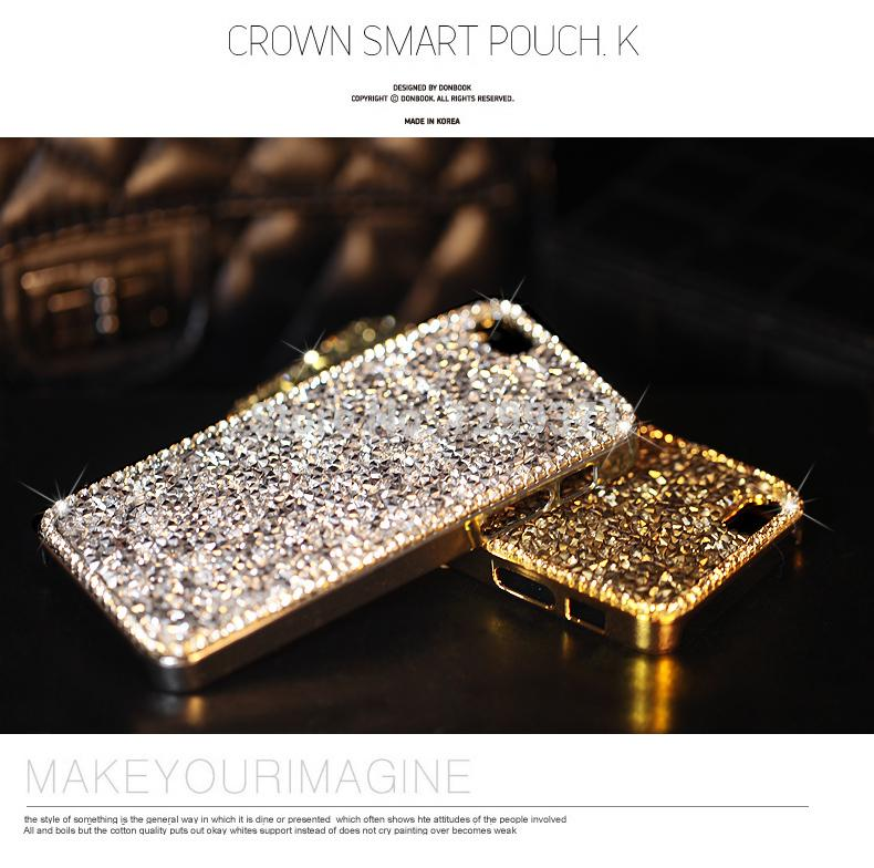 wholesale Fashion Crystal Diamond Case For Iphone 6 7 8 Plus 5S 5C For Samsung Galaxy Note 5 4 3 S8/7/6 Edge Plus S5/4