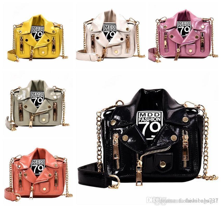 Design di lusso Borse Borse Portafogli da donna catena del motociclo spalla donna con scollo a V Giacca Borse multicolore cerniera borsa borse in pelle Croce Body