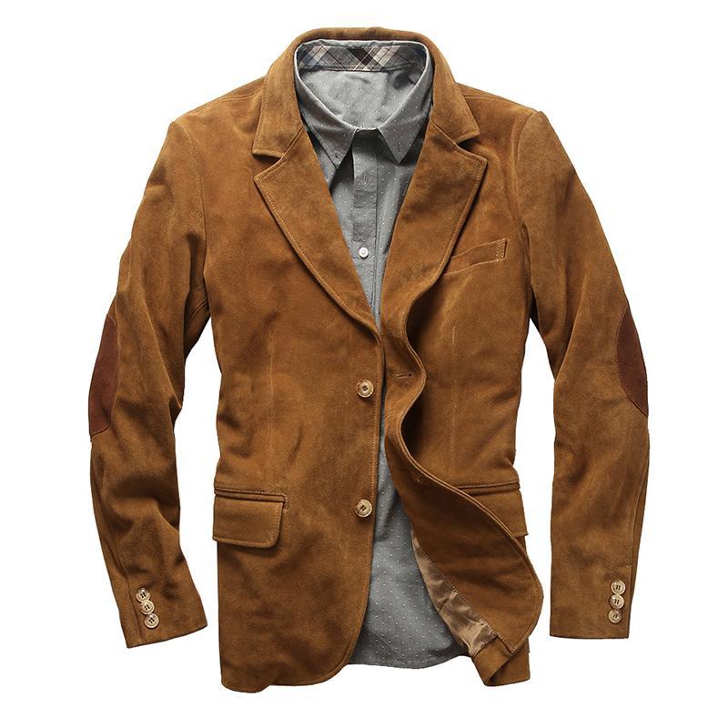 1952 descripción leída! hombre de la chaqueta de cuero de la piel genuina de la vaca de tamaño asiático zurriago de la chaqueta de cuero con estilo británico informal