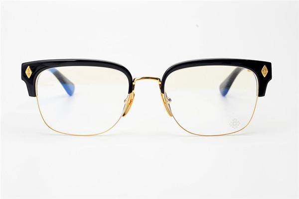 Luxury-Панк готической креольский форме сердца кадр женщина половина кадр очки кадр мужчина близорукость ручной очки большой крест меч согласующие очки