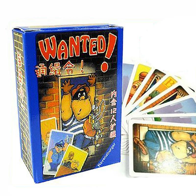 Разыскивается Карточная Игра Семья Небольшой Размер 3-5 Игроков Настольные Игры Легко Играть Забавная Игра