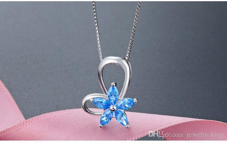kolyeler kristal gümüş takı fabrika tedarikçisi toptan DDS2380 önerisi hediyeler en kaliteli S925 gümüş kristal kolye