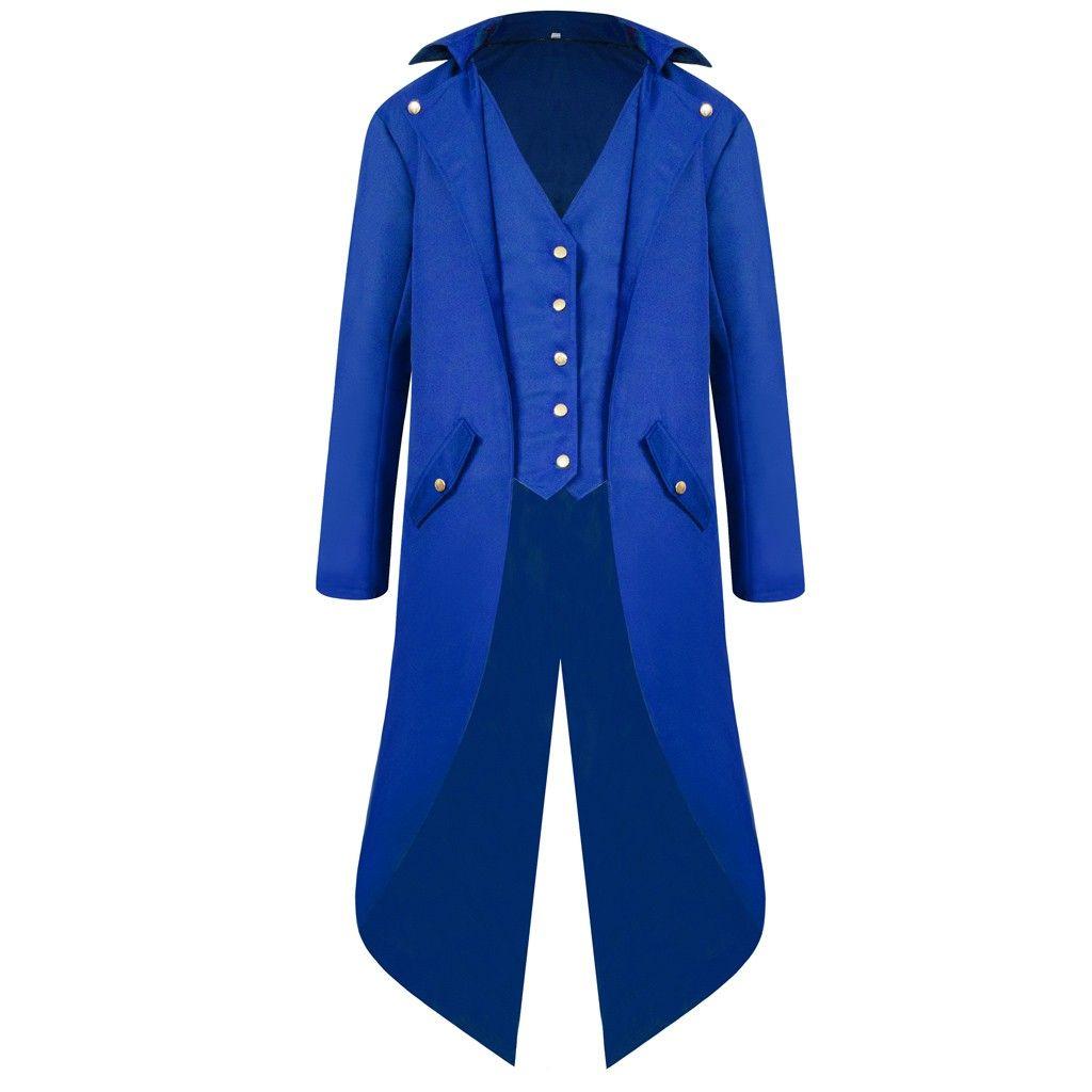 vintage traje medieval Robe Cosplay vintage trincheira do casaco homens Tailcoat Jacket Gothic REDINGOTE Uniforme dos homens Praty Outwear # g3