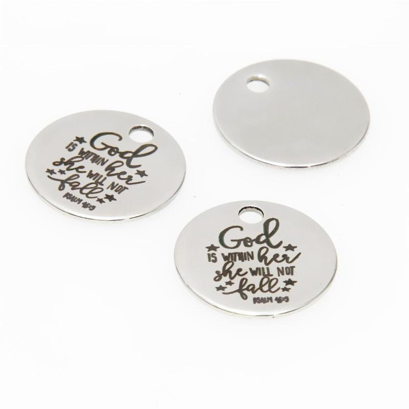 10pcs//lot God charm God Is Good All The Time Stainless steel Charm pendant 20mm